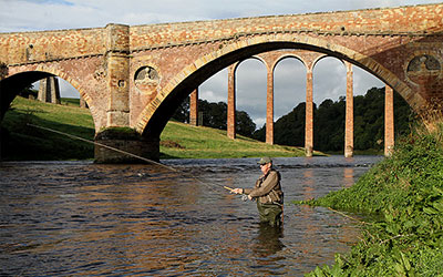 fishing on river Tweed